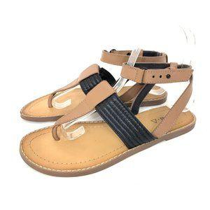 Kelsi Dagger Brooklyn Leather Ankle Strap Sandals